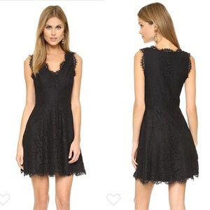 Joie Nikolina B Lace Dress-Caviar Black